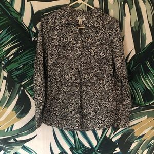 Old Navy Floral Button Down M
